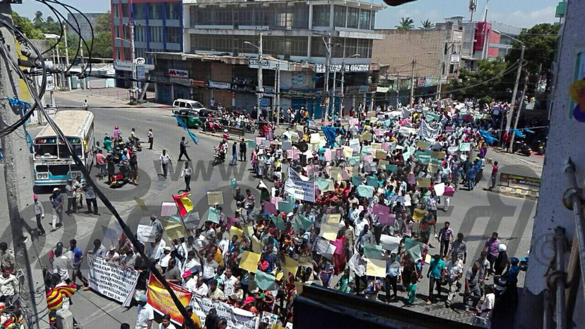 Sri Lanka: Tamils in the North-East protest at last