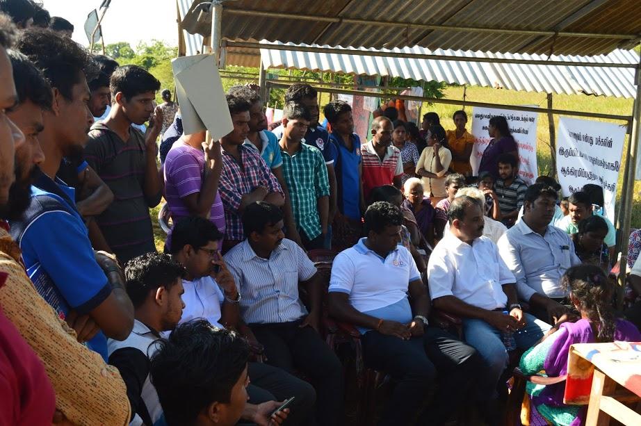 கேப்பாபுலவு மக்களின் போராட்டத்துக்கு யாழ் பல்கலைகழக மாணவர் ஒன்றியம் ஆதரவு