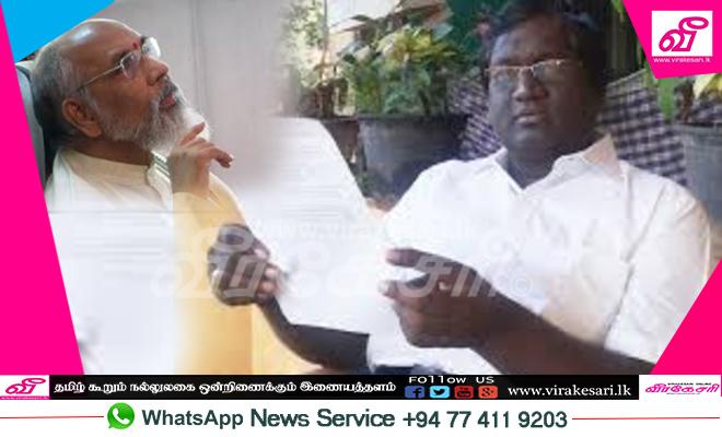 """""""புறோக்கர் வேலையை முதலமைச்சர் விக்னேஸ்வரன் கைவிடவேண்டும்"""""""